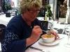 Lunch ute i tisdags, vi inledde med gazpacho.