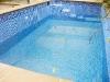 Påfyllning av poolen pågår, här kl 15.58