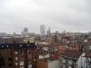 Utsikten från lägenheten jag hyr. Den högsta byggnaden, Torre Picasso, var tidigare den högsta skrapan i Madrid.
