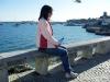 Karin ovanför Praia da Rainha, Cascais