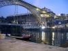 Det börjar skymma i Porto