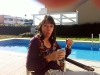 Framme hos Karin i Portugal, vi avnjuter kaffe i solskenet.