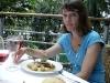 Vi äter god lunch på restaurante Samarkanda, inne på järnvägsstationen Atocha.