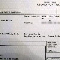 Min nye bankman har blivit förmånstagare (beneficiario) till företagskontot!