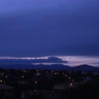 Orolig kvällshimmel, fotad strax före kl 19.30