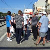 Vi tar tåget in till Barcelona
