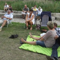På fest vid sjön Immeln