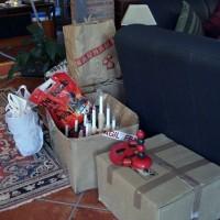 Julprydnader som jag skall behålla är sorterade...