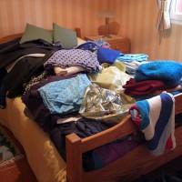 Lite av mina kläder som jag tänker skänka bort till en välgörenhetsorganisation.